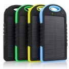 5000mAh Portable Waterproof Solar USB Charger External Battery