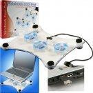 Laptop PC Notebook USB LED Light Fan Cooling Pad