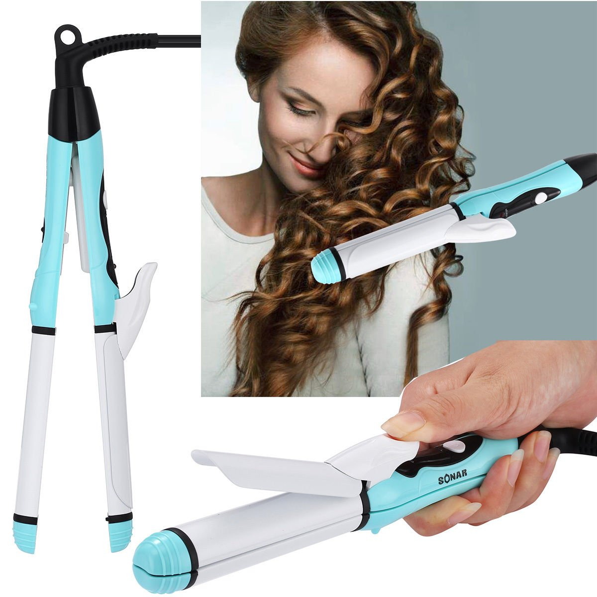 Professional 2 in 1 - Curler & Straightener Hot Hair Iron Curling Ceramic Wave
