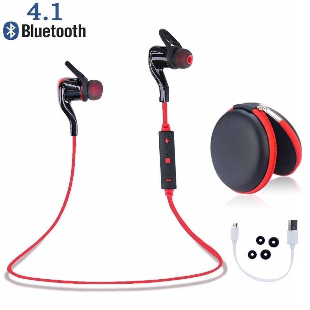 Bluetooth 4.1 Wireless Universal Headphones Stereo Earphone Earbuds Sport Headset