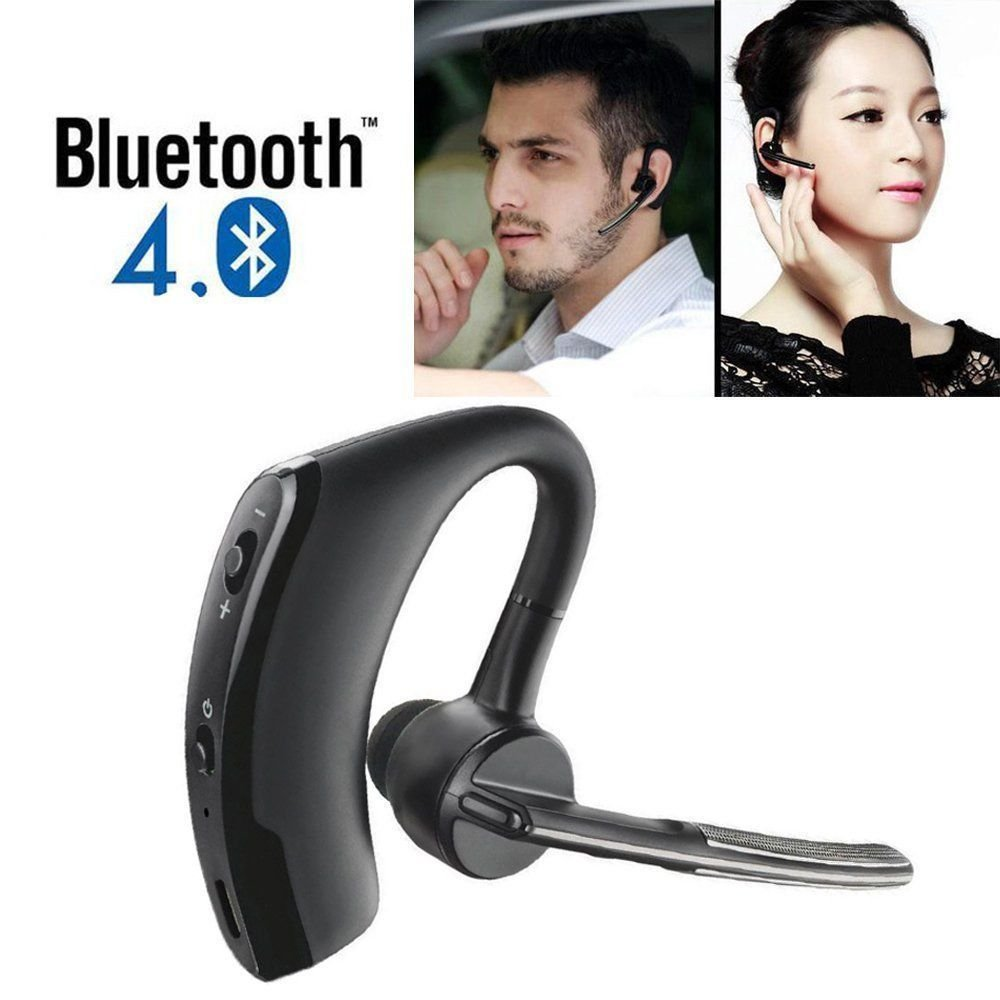 Bluetooth 4.0 Stereo Wireless Business Work Headset Earphone For iPhone Samsung