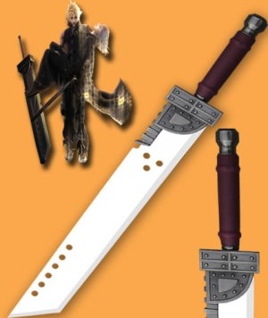 Final Fantasy Zack Mini Cloud Buster Sword 42''
