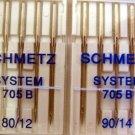 10 Bernina Schmetz System 705 B  80/12 & 90/14  NIB