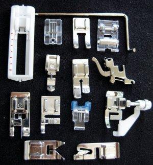 SET -14 High Shank Sewing Machine SNAP-ON Presser Feet