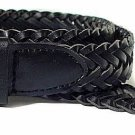 Men's Genuine Leather Braided Belt Black or Brown New