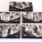 Magazine Clutch Trendy Ladies Envelope Purse Handbag Color Vogue Wallet Black