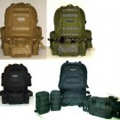 Military Molle Assault Tactical Backpack Large Rucksack Backpack Bag Detachable