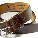 "Men's BROWN Leather Belt Made In USA 1 1/4"" Dress Small-XXXL Free Shipping NEW"