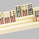 4 Domino Racks Dominoes Mexican Train Game Holder
