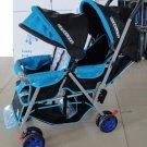 DOUBLE Stroller Baby  Strollers PINK  BEBELOVE 2 Seats Multiple Multi Twin New
