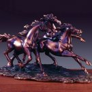 Three Running Horses Bronze Sculpture 3 Horses (S) Wild Horse FREE SHIPPING New