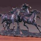 Three Running Horses Bronze Sculpture 3 Horses Wild Horse Large Statue New