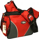 Large Messenger Sling Body Bag Backpack Binder Bag RED School Pack
