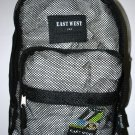 Mesh Backpack BLACK Pack See Through School Bag Clear Sports Gym Free Shipping