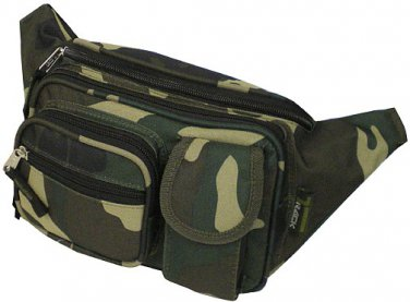 Camo Hip Waist Case Fanny Pack Green Camouflage
