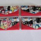 Magazine Clutch Trendy Ladies Envelope Purse Handbag Color Vogue Wallet Red