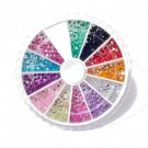 MoYou Rhinestones 12 Colors Nail Art  Decoration 120 Premium Stones Professional