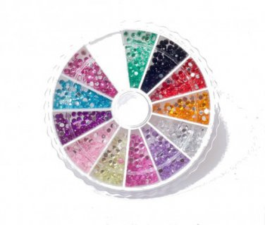 MoYou Rhinestones 12 Colors Nail Art  Decoration 120 Premium Stones Professional