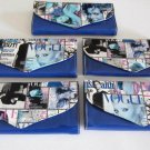 Magazine Clutch Trendy Ladies Envelope Purse Handbag Color Vogue Wallet Blue
