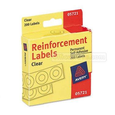 "CLEAR Avery Hole Reinforcements 200 1/4"" Diameter   Binder Notebook Paper Holes"