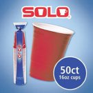 50 Red SOLO Cup 16 OZ Plastic Party Beer Cups Drink Soda Cold Lot Of 50 cater