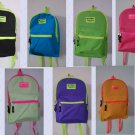 OVEREXPOSED NEON ZIPPER BACKPACK 7 Colors School Pack Day Bag Hiking Free Ship