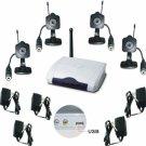 Mini Wireless Color Spy Cameras w/ PC USB Adapter 4 Cam