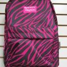 PINK ZEBRA  Backpack School Pack Bag 205  Back Pack Free Shipping New Stripes