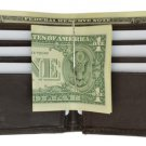 Genuine Leather Bifold Men's Wallet  w/Money Clip BROWN  ID Window Credit Cards