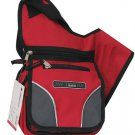RED Messenger Sling Body Bag  Purse Small Backpack
