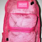 Mesh Backpack PINK Pack See Through School Bag Clear Sports Gym Free Shipping