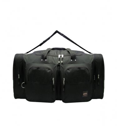 Small BLACK DUFFELBAG DUFFEL Gym  BAG Bags New Carry On Tote Sport Heavy Duty 19