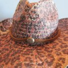 Western Cowgirl Hat Leopard Brown Cowboy Garden Style Sun Free Shipping New