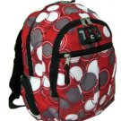RED Circles Backpack School Pack Bag NEW  282PB