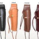 "Smooth Leather Holster  For 8"" Barrels Pistol  Handgun .38 & .45 Caliber Western"