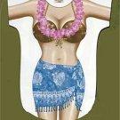 Tropical  Bikini Beach Cover Up Sexy Body T Shirt Blue