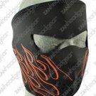 Orange FLAME Neoprene Face Mask Ski Motorcycle  COLD