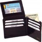 EEL SKIN  MENS BLACK LEATHER WALLET  BIFOLD Free Shipping Credit Card Holder NEW