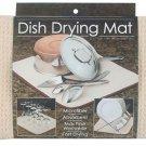 The Original Dish Drying Mat  16 x 18 Beige Microfiber Free Shipping Towel Rack