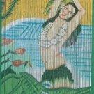 Natural Bamboo Beaded Curtain Dancing Hula Girl Beads Window Doors Room Divider
