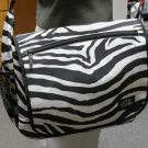 Large Messenger Sling Body Bag School Purse ZEBRA Stripe  Free Shipping Shoulder