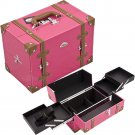 Makeup Case HOT PINK Beauty Train Organizer Professional  2-Tiers Free Shipping