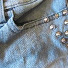 Rock & Republic Jeans Studs Rivets Size 8 Bootcut Blue Free Shipping