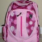 PINK Circles Backpack School Pack Bag  NEW 328PB