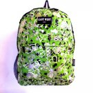 PEACE SIGNS Hearts Backpack  Green Lime  Daypack School  Hiking Camping BP101S