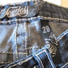 Fearless Jeans Rhinestones Size 28 Bootcut Blue Free Shipping