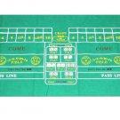 """CRAPS  Casino Felt Layout  36""""x72"""" Las Vegas Games"""