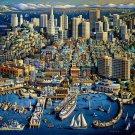 SAN FRANCISCO  500pc 16x20 Jigsaw Puzzle Eric Dowdle Folk Art Calif Made In USA