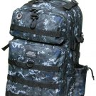 BLACK DIGITAL CAMO Large Backpack Hunting Day Pack DP321 Camping TACTICAL  Army