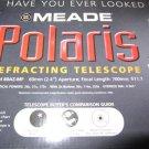 "Meade Polaris Model 60AZ-MF 60mm (2.4"") Refracting Telescope W Tripod 2x Barlow"